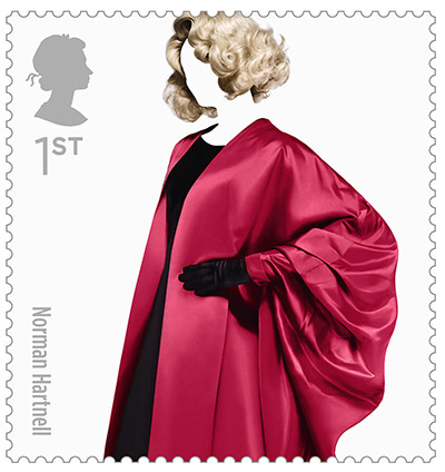 Big Picture, fashion stamps, Norman hartnell