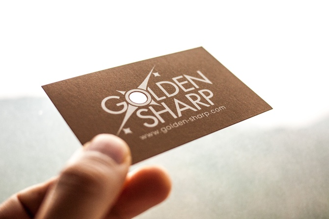 Business card design with punch-holes