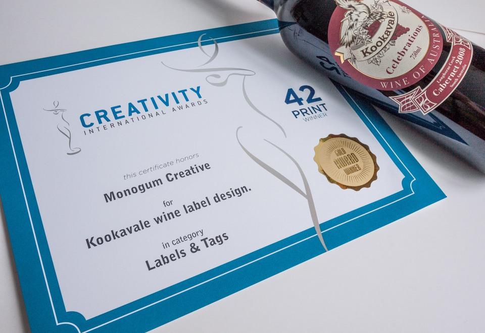 Red wine label design35