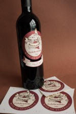 Red wine label design8