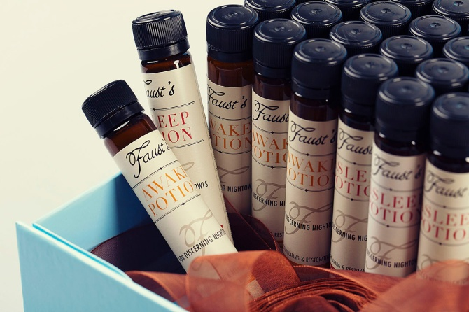 Packaging design for Faust's Potions