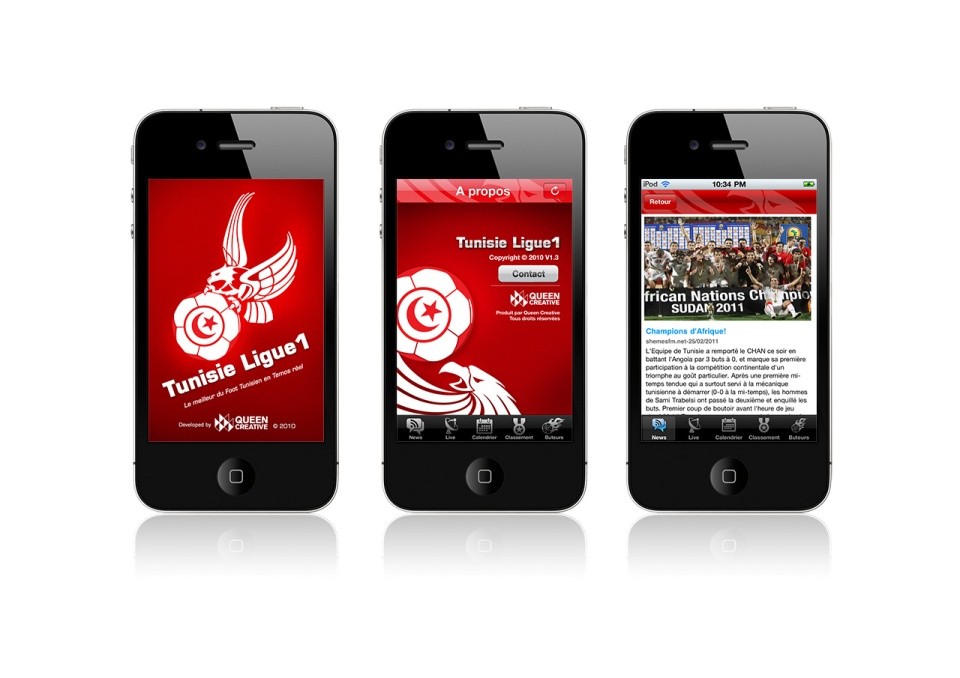 iPhone App Icon Design - Tunisie Ligue-all-screen.jpg